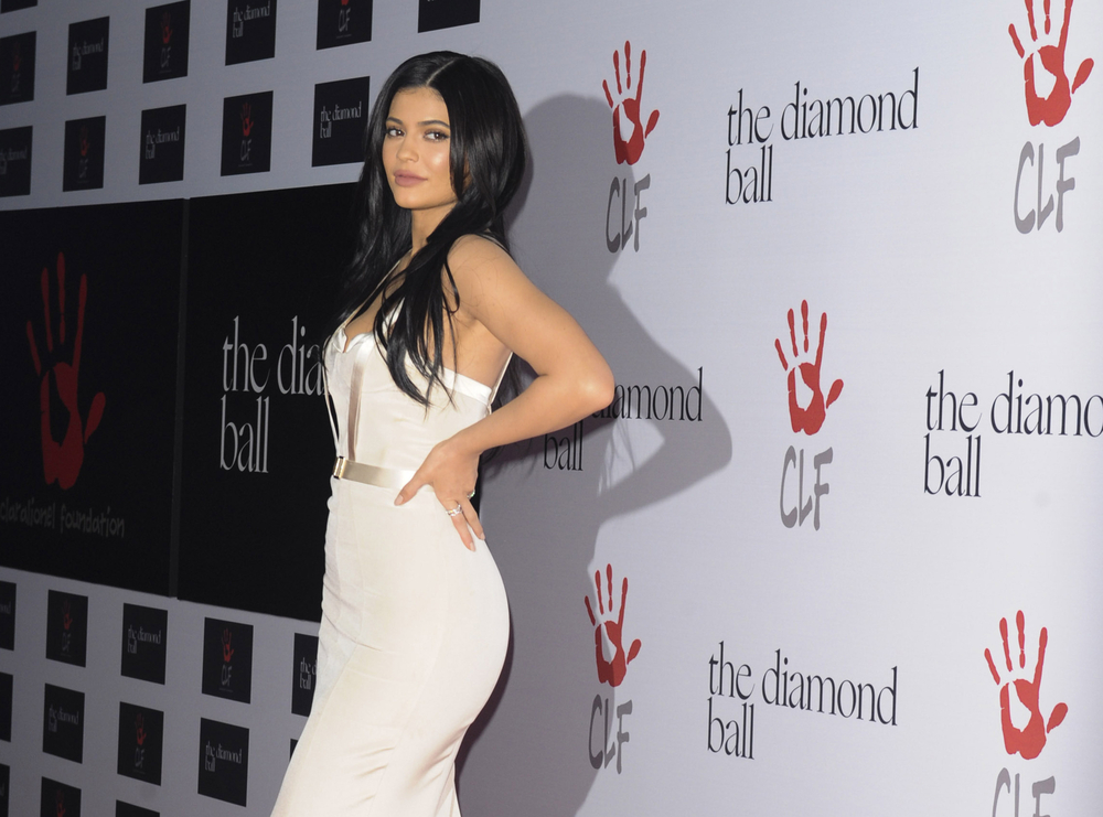 Kylie Jenner In A White Dress
