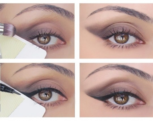 1. Get an idiot proof cat eye using a credit card