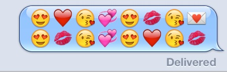 Don't text any sort of heart emoji to him.