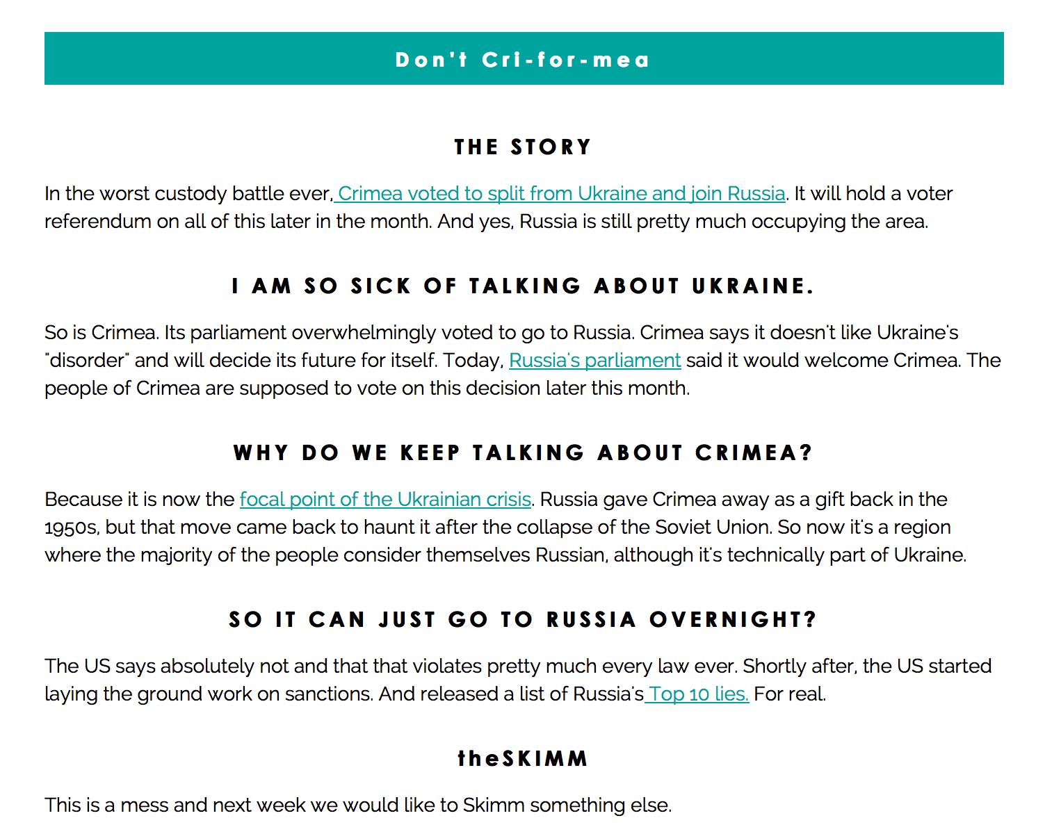 1. Subscribe to The Skimm
