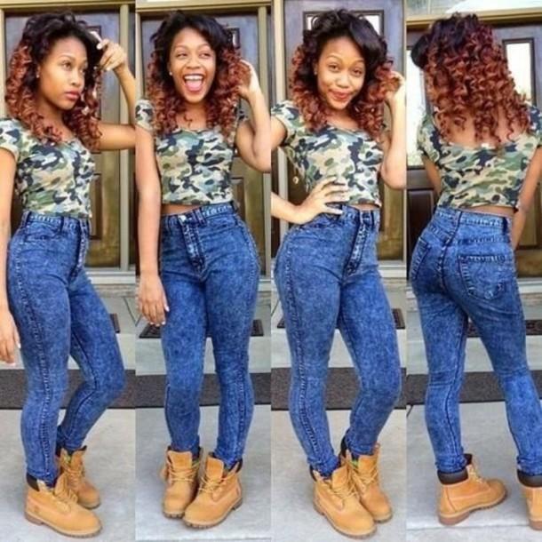 1. High-waisted jeans