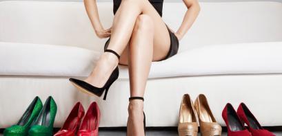 Legs in heels.