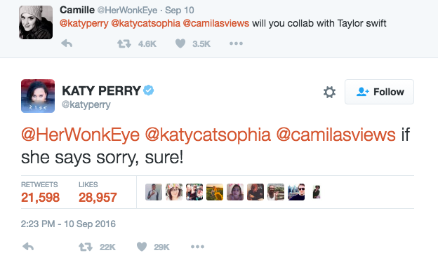 Katy Perry apology
