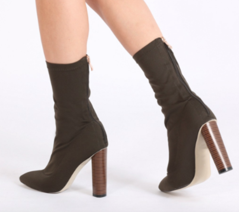 Public Desire Emily sock fit stretch boot