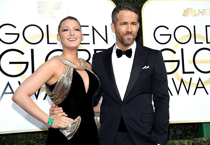 Blake Lively & Ryan Reynolds Golden Globes