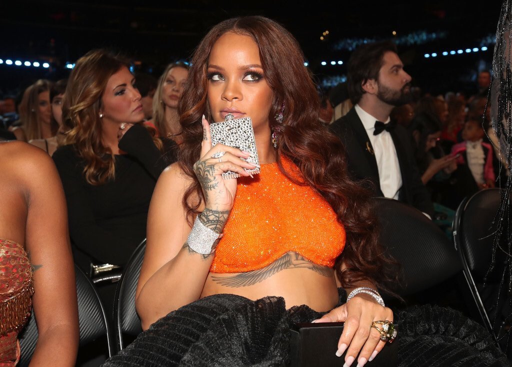Rihanna Grammys Flask
