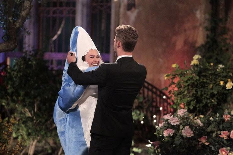 Alexis in shark costume
