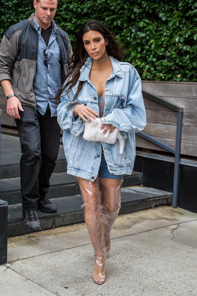 Kim Kardashian Clear Plastic Boots