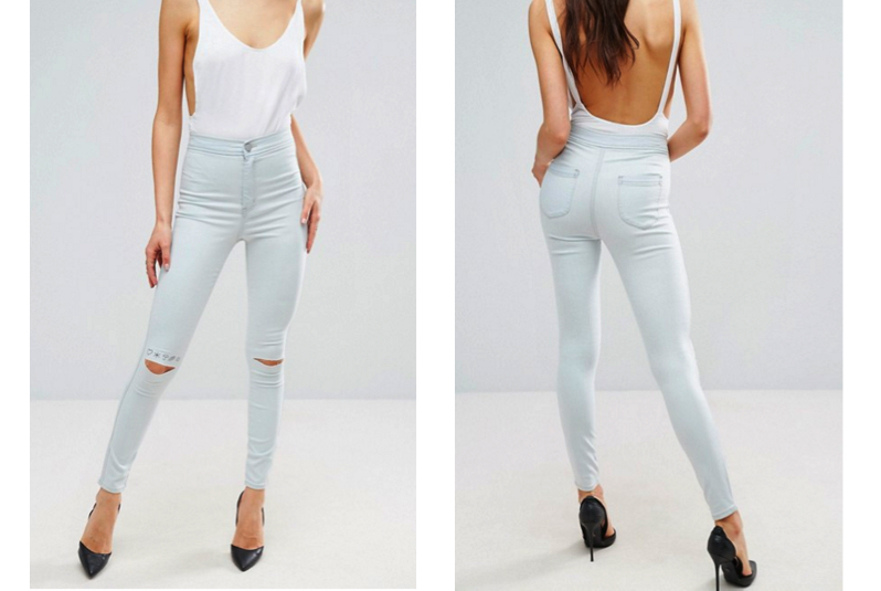 ASOS High Waisted Denim Jegging