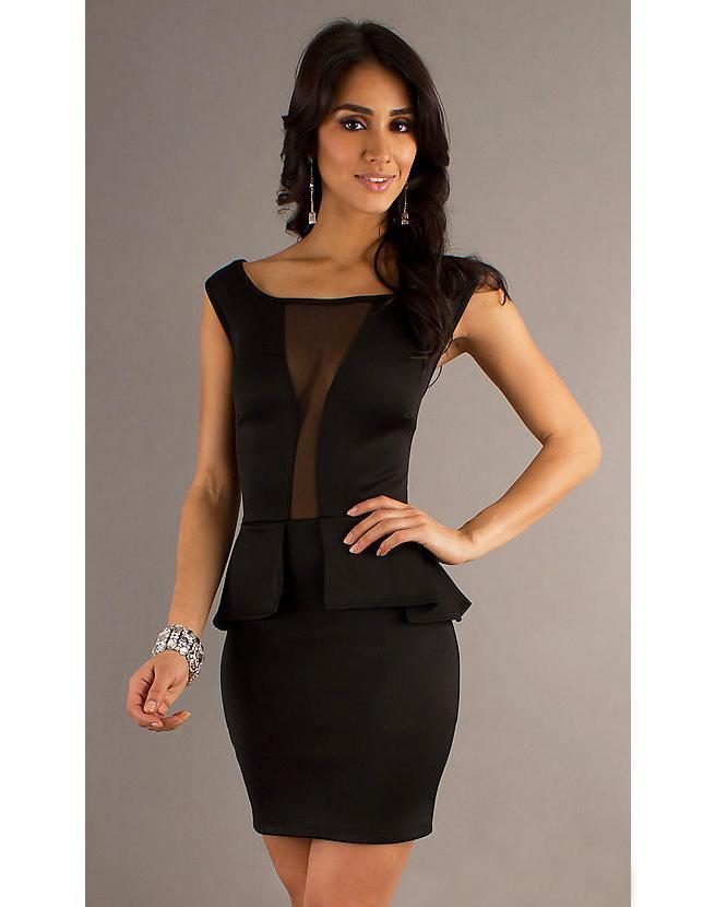 Mesh Paneling Dress