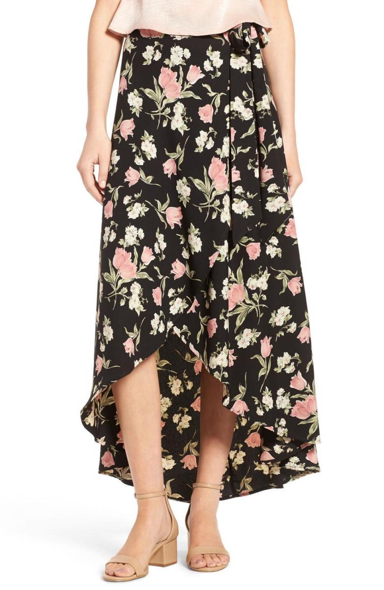 Sporano Floral Wrap Skirt