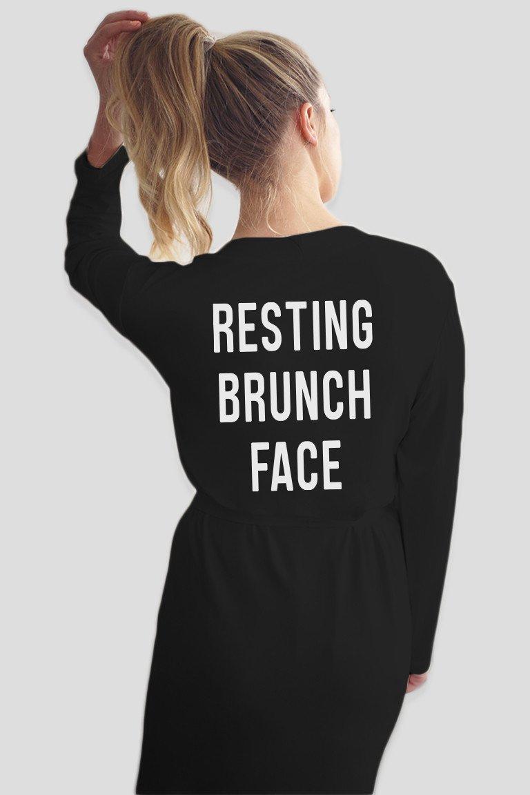 Resting Brunch Face Robe
