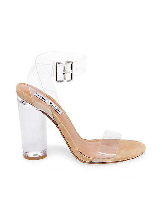 Clearer Clear Lucite Sandals By Steve Madden