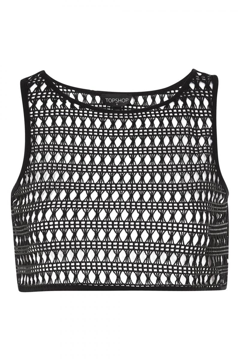 Top Shop Lace Crop Top Cover Up