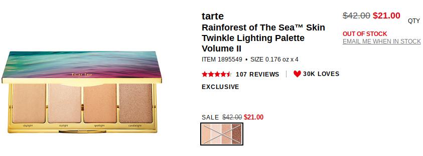 Tarte Rainforest Of The Sea Palette