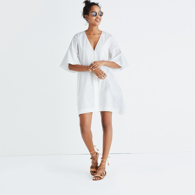 Madewell Bell-Sleeved Shirtdress