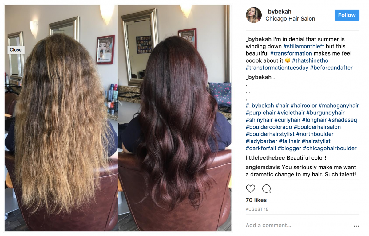New Dark Hair Color
