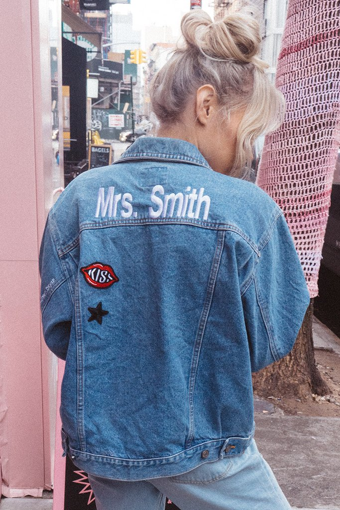 Shop Betches x Unemployed Denim Custom Vintage Jacket