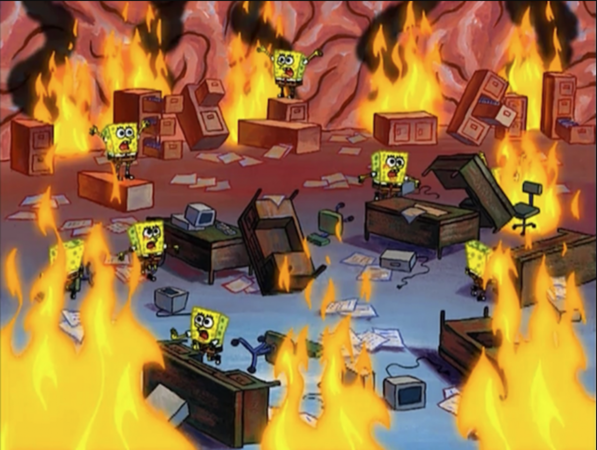Spongebob Fire
