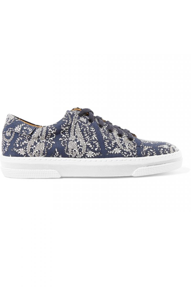 A.P.C. Printed Canvas Sneakers