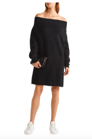Opening Ceremony Off-The-Shoulder Wool-Blend Sweater Dress