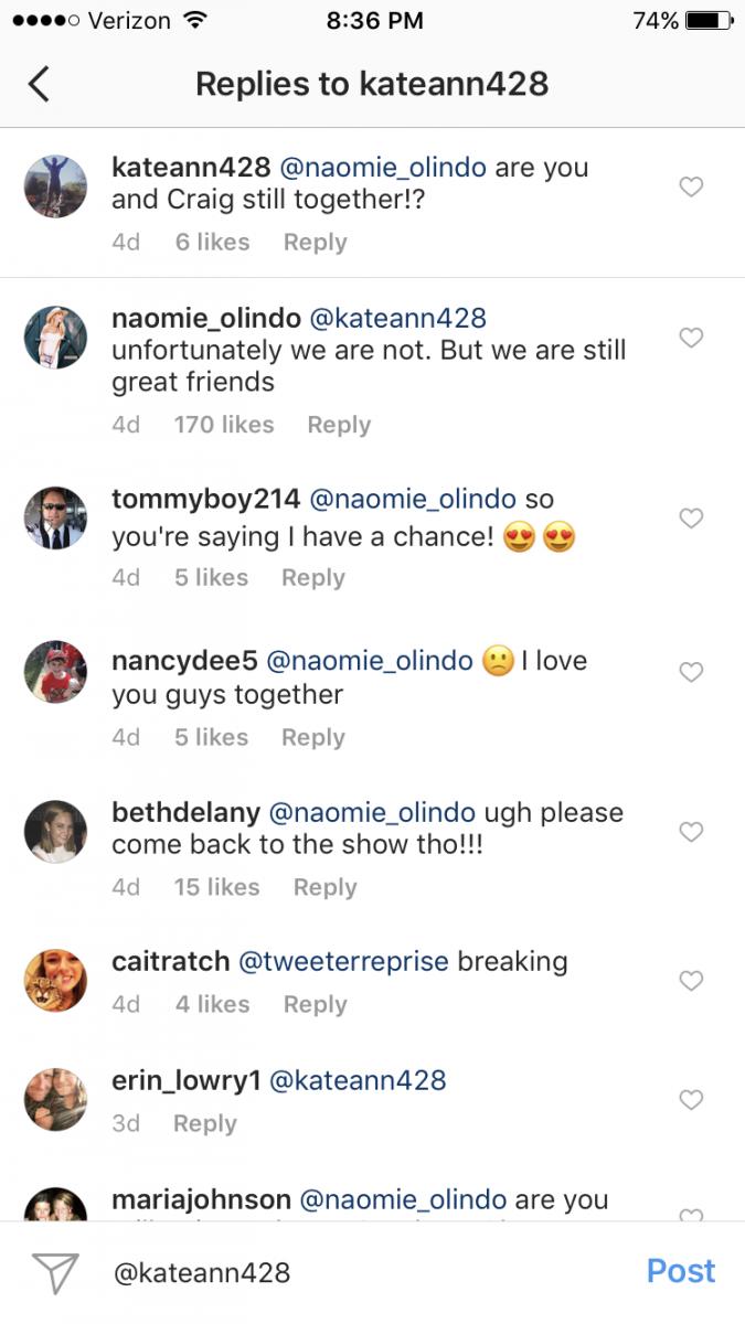 Naomie Olindo Craig Conover Break Up