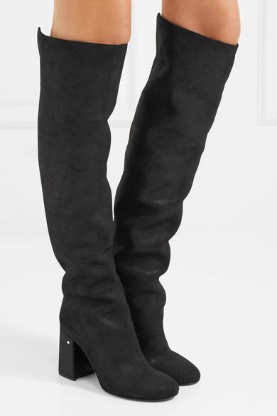 LAURENCE DACADE Parveen coated-suede knee boots