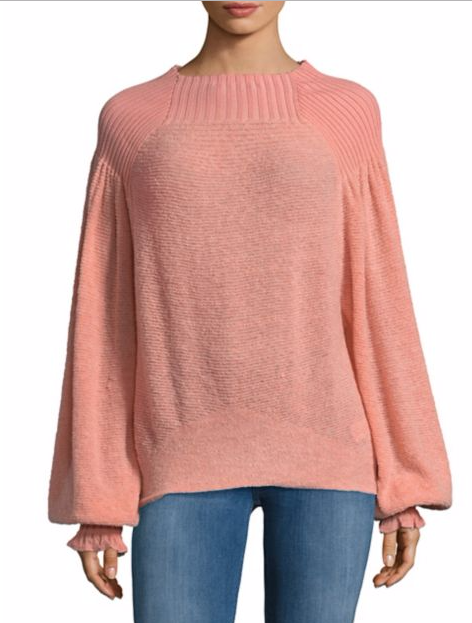 Free People Knitted Boatneck Sweater