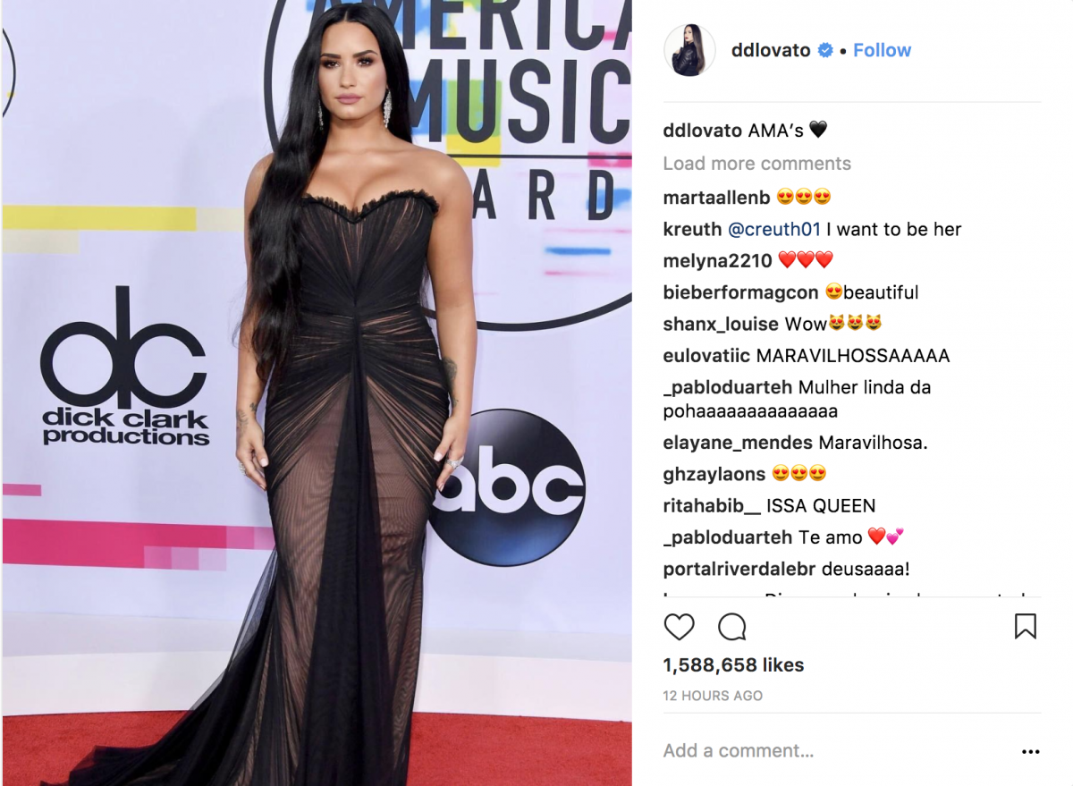 Demi Lovato AMAs 2017