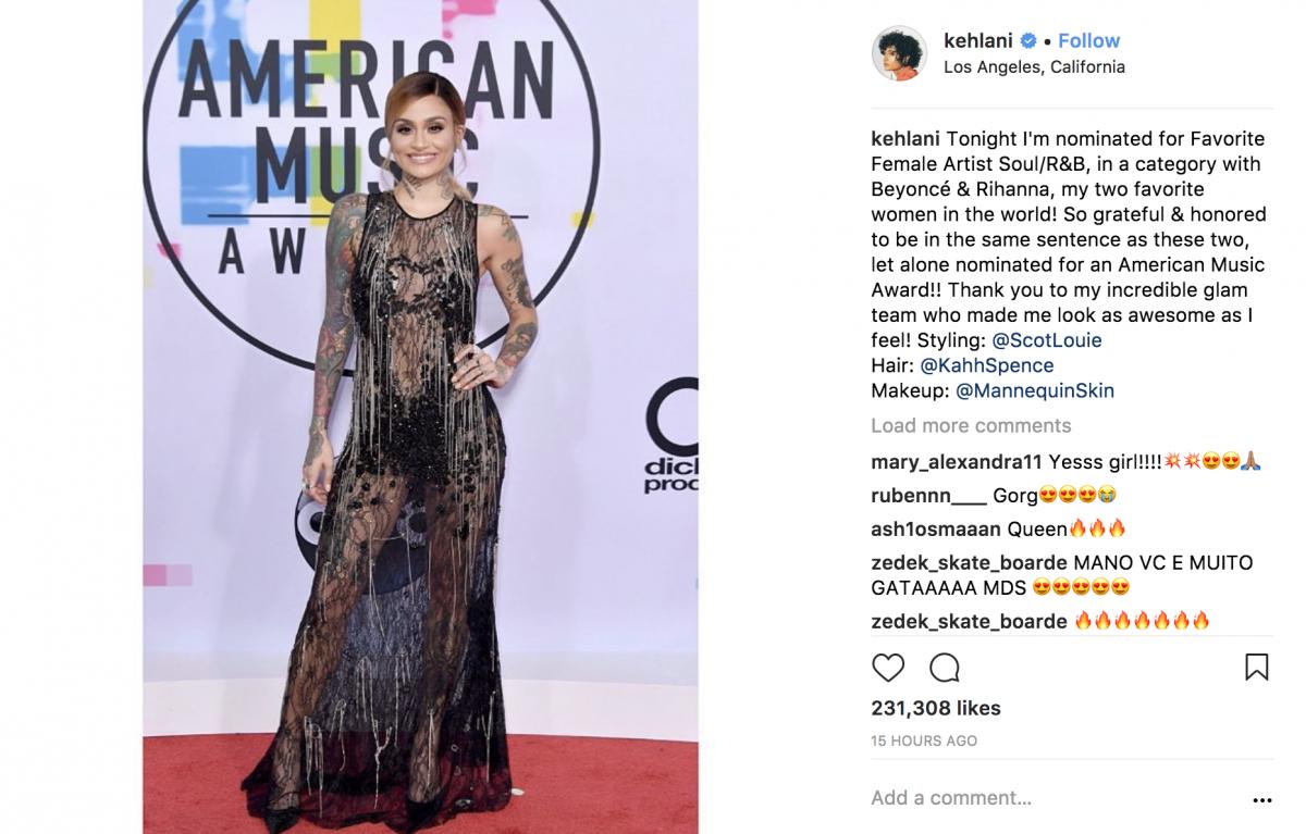 Kehlani American Music Awards