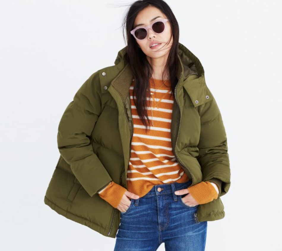 Quilted Down Puffer Parka Madewell