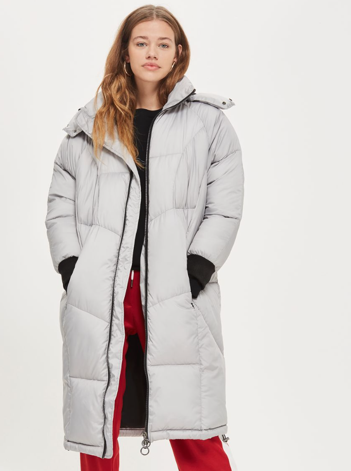 Long Puffer Jacket Topshop