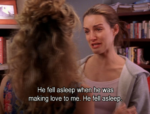 Fell Asleep Charlotte SATC
