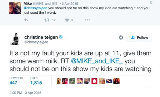Chrissy Teigen Tweet