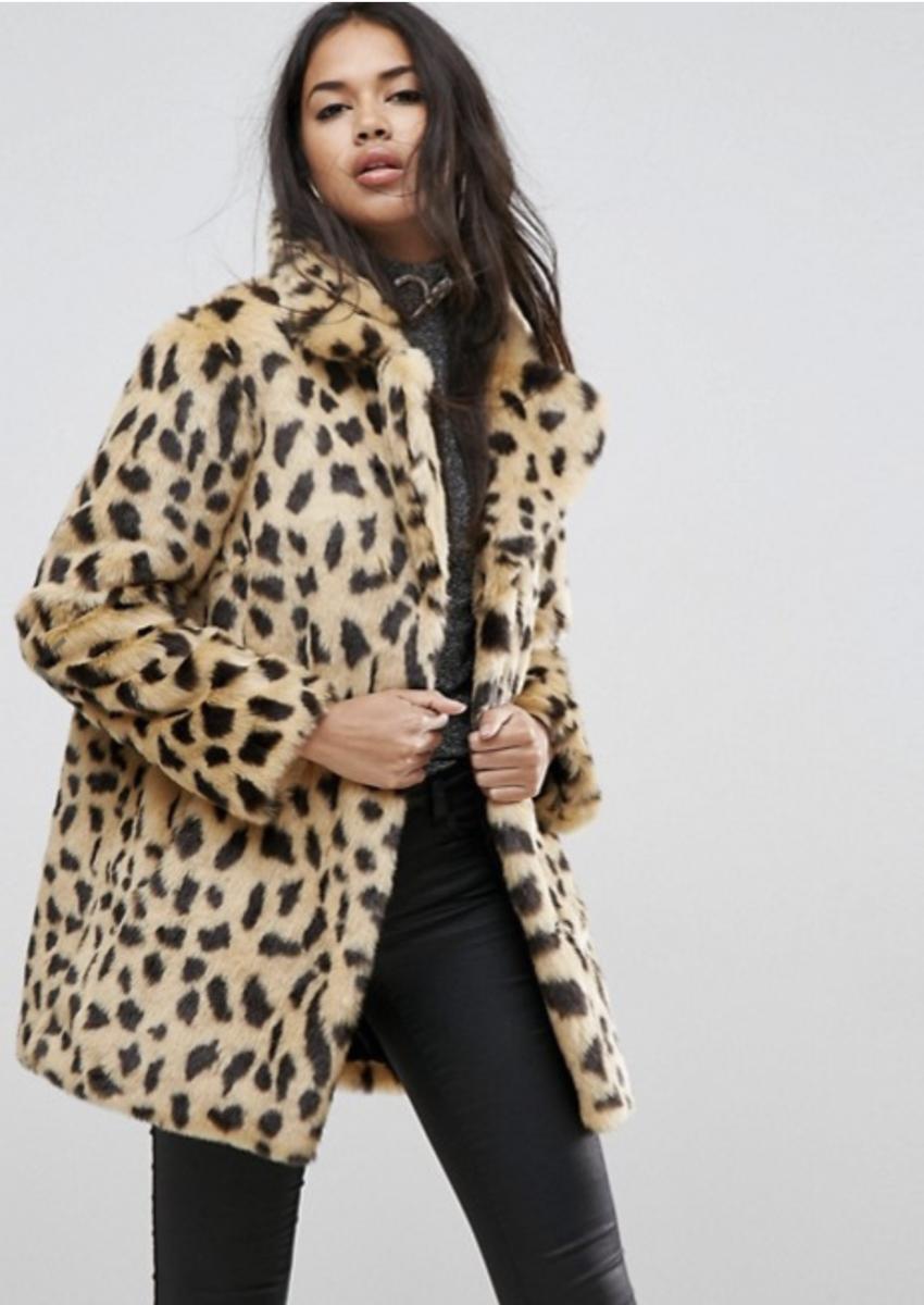 ASOS Leopard Print Coat