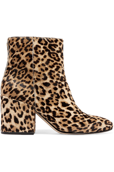 Sam Edelman Taye Leopard-Print Calf Hair Ankle Booties