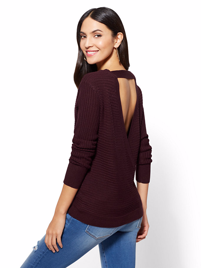 New York & Company Envelope Back Sweater