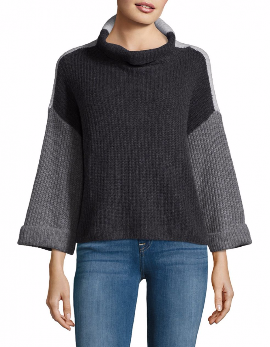 Lord & Taylor Funnel Neck Cashmere Sweater