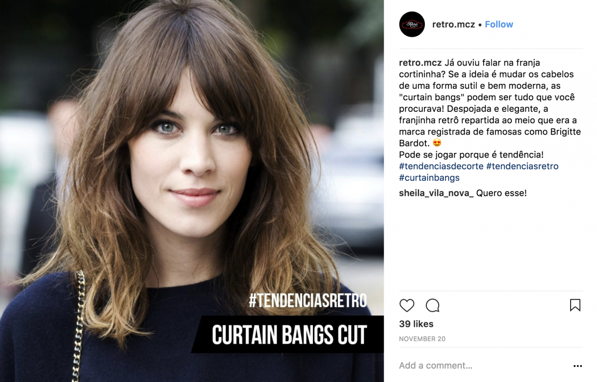 Curtain Bangs