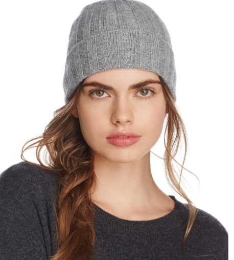 C By Bloomingdale's Cashmete Cuff Hat