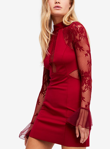 Free People Illusion Bodycon Mini Dress