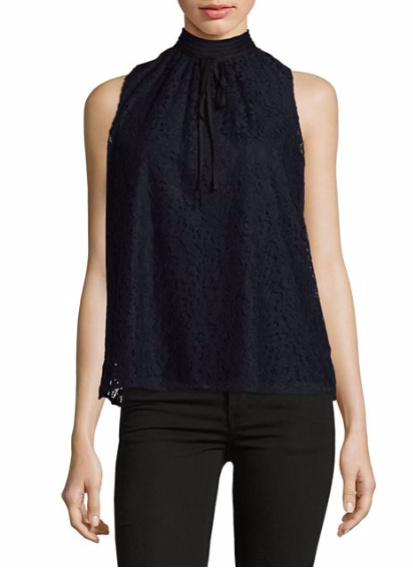 Karl Lagerfeld Paris Lace Sleeveless Top