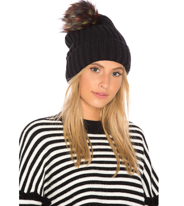 cb105da7c07b2a Hat Attack Chunky Rib Beanie With Snap Off Faux Fur Pom