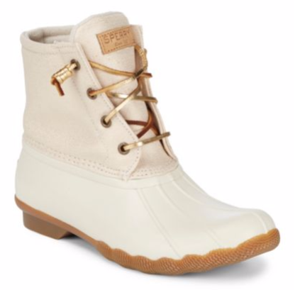 Sperry Saltwater Sparkle Rubber Boots