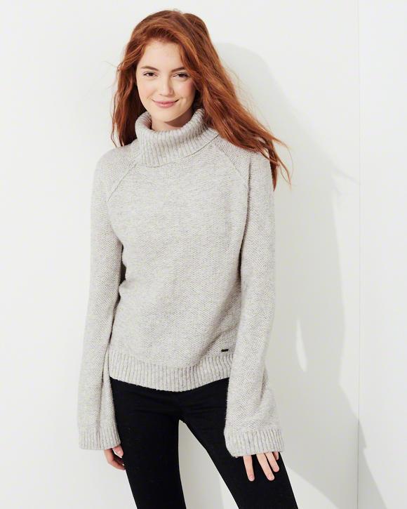 Hollister Bell Sleeve Turtleneck Sweater
